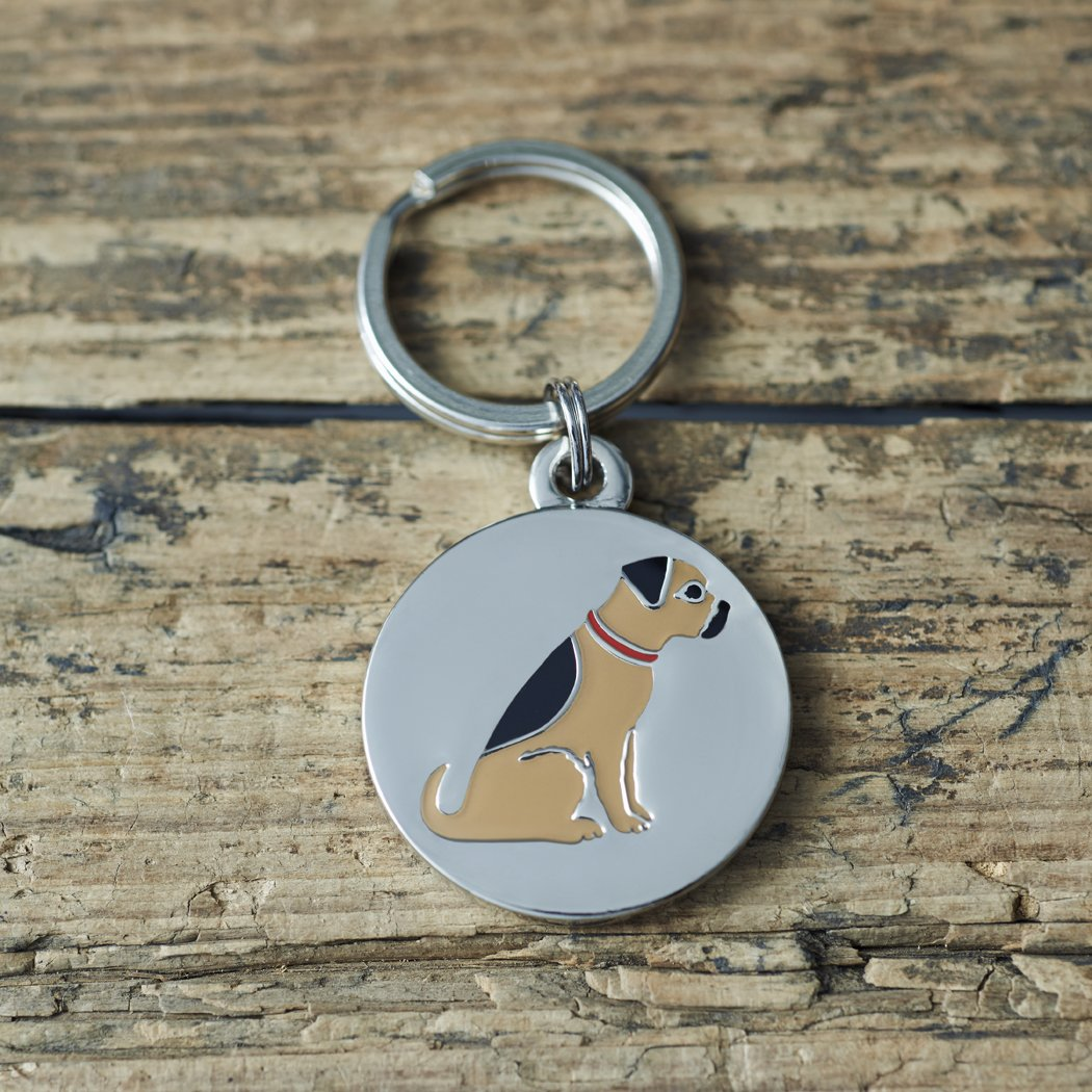Sweet William Engraved Border Terrier dog tag