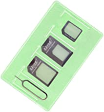 Sim Karten Adapter Set ( Nano sim Micro sim Standard sim Eject Pin Lagerung ärmel ) Speziell für iPhone 7 6 5 4 Benutzer,mittlerweile nützlich für Samsung Nokia HTC HUAWEI (Black)