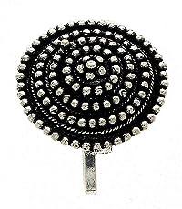Anuradha Art Silver Metal Press On Nose Ring/ Pin For Women