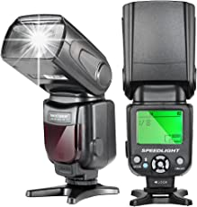 Neewer NW-561 Speedlite - Flash con LCD Display per Canon & Nikon Digitale DSLR Fotocamera, come Canon Rebel T5i T4i T3i T3 T2i T1i SL1, EOS 700D 650D 600D 1100D 550D 500D 100D 6D, 1Ds Mark III, 1Ds Mark II, 5D Mark III, 5D Mark II, 1D Mark IV, 1D Mark III e Nikon D7200 D7100 D7000 D5200 D5100 D5000 D3000 D3100 D300 D300S D700 D600 e altri DSLR Fotocamera con Standard Hot Shoe