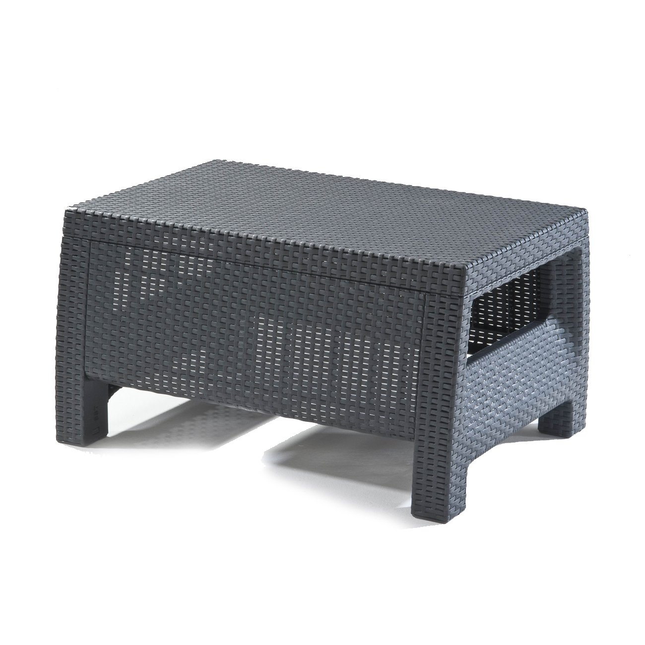 Outdoor Wicker Coffee Table With Storage: Rattan Outdoor Garden Furniture Coffee Table Durable