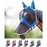Harrison Howard CareMaster PRO Luminous Maschera Anti-Mosche per Cavallo UV Protezione Pieno Volto