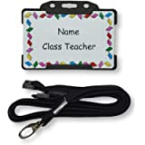 Personalised Children's Novelty ID Card & Lanyard - Teacher Role play - Schools - Pretend Play - Imaginary Play