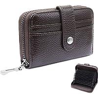 HNOOM Porta Carte di Credito per Donna Uomo Protezione RFID Portafogli Porta Carte Credito Pelle con 12 Slot per schede…