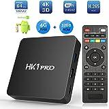 Android 8.1 TV Box, SeeKool HK1 Pro Smart TV Box S905X2 Quad Core 64 bit, 4GB RAM+32GB ROM, BT 4.1, 4K*2K UHD@60fps H.265, Android Set-Top Box mit 2.4G / 5.0G Dual WiFi / 3D/ USB3.0