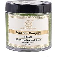 Khadi Herbal Ayurvedic Aloevera Neem and Basil F.Mass.Gel, 100g