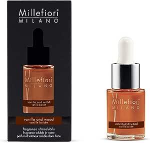 Millefiori Milano fragranza idrosolubile | 15ml | fragranza Vanilla & Wood | da utilizzare con diffusore di fragranza per ambiente ad ultrasuoni Millefiori Hydro
