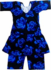 Others Girls Synthetic Swimming Costume(BM-45SWIM26_Multicolour_8 - 9 Years)