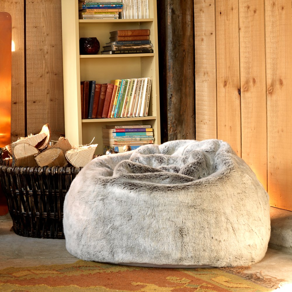 Icon Klassischer Sitzsack aus Kunstpelz, Sitzsäcke für das Wohnzimmer, 9cm  x 9cm, Groß, Stuhl für das Schlafzimmer