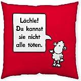 Sheepworld Baumwollkissen > Lächle! (40x 40cm) aus Baumwolle