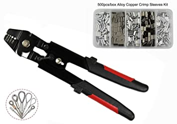 Wire Rope Swager Crimping Tool Clamp Tool Ratchet Press Crimper ...