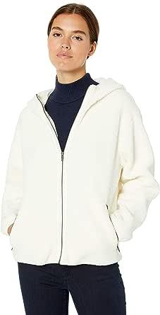 Marchio Amazon - Daily Ritual Teddy Bear Hooded Zip Jacket Donna