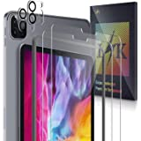 LϟK 4 Pièces Protection Écran Compatible avec iPad Pro 11 inch 2020 avec 2 Pièces Écran Verre Trempé + 2 Pièces Caméra…