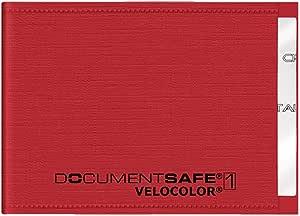 Veloflex 3271321 Document Safe Kartenhülle Kreditkartenhülle Rfid Nfc Schutz Rfid Blocker 90 X 63 Mm Rot Bürobedarf Schreibwaren