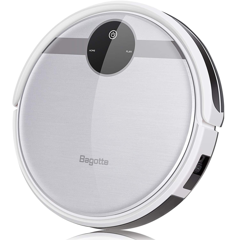 Bagotte BL509 Saugroboter mit Wischfunktion, HEPA-Filter, für Tierhaare, Hartböden und Teppiche