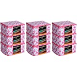 Kuber Industries 9 Piece Non Woven Saree Cover Set, Pink,Large Size ,CTKNEW155