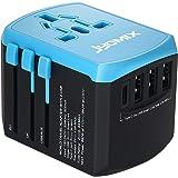 JYDMIX Adaptateur de Chargeur de Voyage Universel Tout-en-Un avec 3 USB Type-A et 1 USB Type-C et avec Une Prise Secteur…