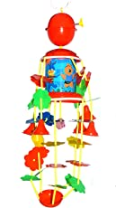 Generic Blossom Musical Merry Go Round Toy (Joomer) with Soothing Sound for Kids, Red