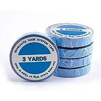 Showjarlly - 1 rotolo di nastro biadesivo, per applicazione di parrucche in tulle cinema, colore: azzurro