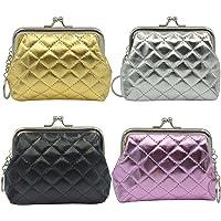 mciskin 4 pezzi mini Trapuntato portamonete portafoglio da donna borsa portamonete piccolo carino borsa portaoggetti per…