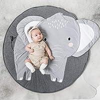 zmigrapddn Baby Kids' Crawling Play Game Blanket Carpet Cartoon Elephant Pattern Floor Mat Soft Nursery Floor Pad Rug Baby Dedrooom Decor Elephant