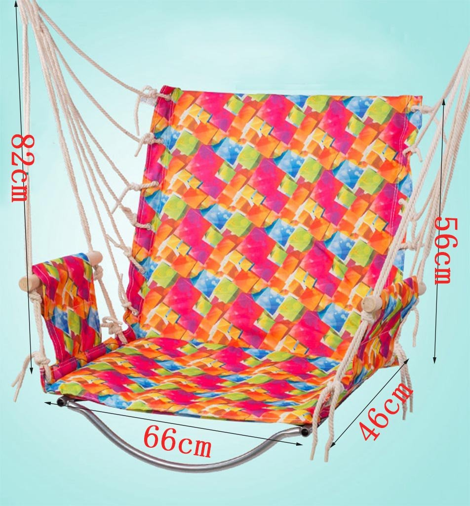 Ailin home- Garden Hammock Hanging Rope Chair, Swing Seat For Any Indoor Or Outdoor Spaces, Load: 150kg ( Color : #3 ) Seat Made from exquisite fabrics and sturdy structures, Suitable for children of different ages to play Please play in the presence of adults 1