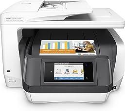 HP OfficeJet Pro 8730 Stampante multifunzione (A4, Stampante, Scanner, Copiatrice, Fax, PCL 6, Wi-Fi, LAN, NFC, Duplex, Compatibile con inchiostro istantaneo, HP ePrint, Airprint, Cloud Print, USB, 2400 x 1200 dpi) Bianco