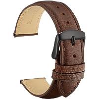 WOCCI Vintage Cinturino in Pelle con Fibbia Nera, Cinturini per Orologio 18mm 19mm 20mm 21mm 22mm 23mm 24mm