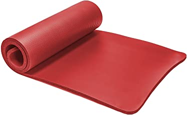 Yoga Mat and Exercise Mat Extra Thick NBR Foam Mat with Carrying Strap by The True Mat (10mm Thick; XL Size: 6 Feet x 2 Feet)