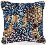 Designer Kunst Kissenbezug/ Kissenhüllen 45x45cm von Signare - Tapisserie Sofakissen Couch - William Morris/The Lion CCOV-ART-MORRIS-5
