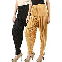 Women's Cotton Viscose Lycra Dhoti Patiyala Salwar Harem Bottoms Pants