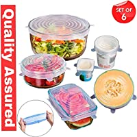 Freshine Silicone Lid Set, Silicon lids for containers, Silicon Stretchable lids, Silicone lids and Cover - Multicolor