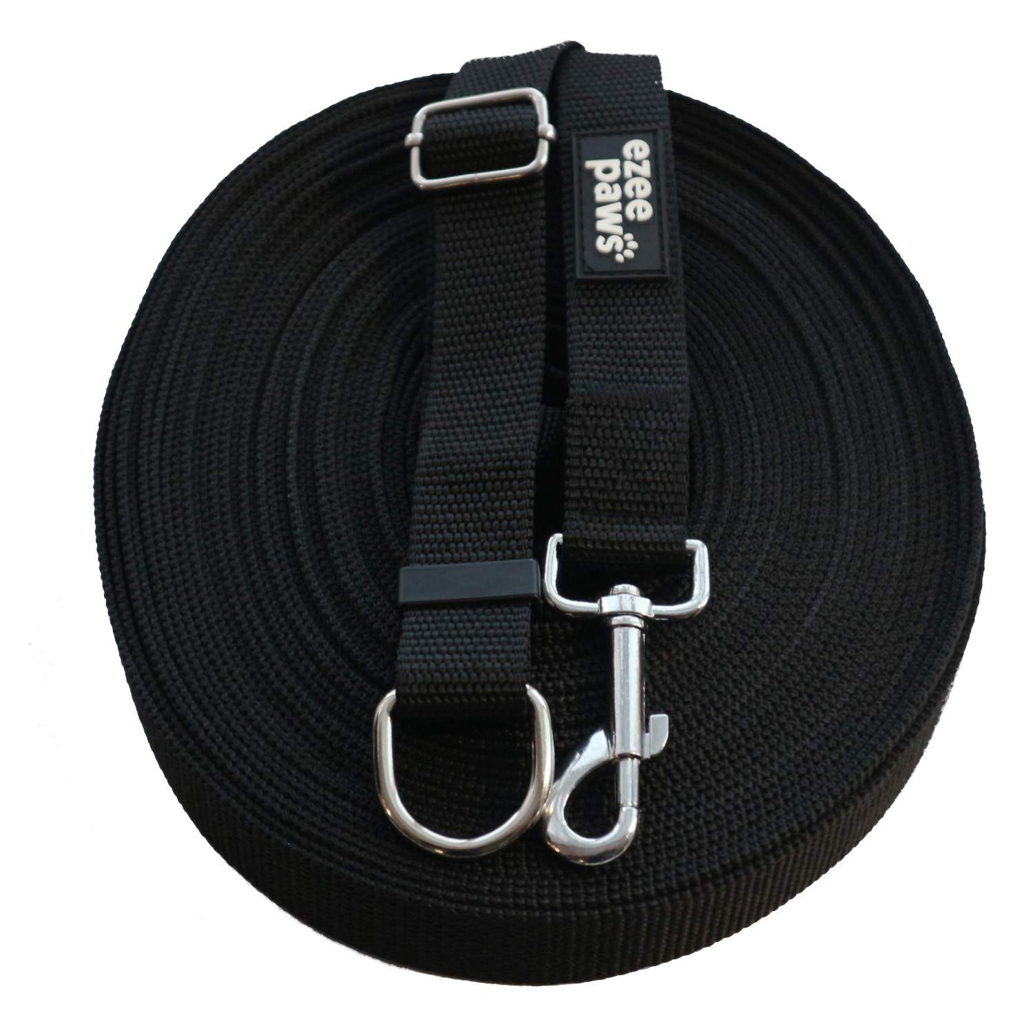Ezee Paws Dog Training Lead Leash 15M /50ft Long Line with Recall Training Guide