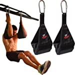 Premium Ab Slings Straps - Rip-Resistant Heavy Duty Pair for Pull Up Bar Hanging Leg Raiser Fitness with Big D-Ring Steel...