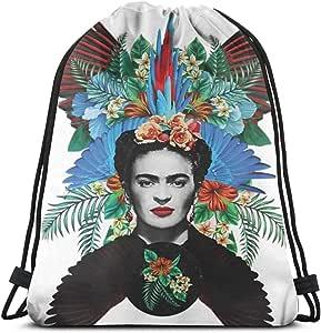 Mhjkloing Frida Kahlo Drawstring Bag Sac /à Cordon Serrage /étanche Sac De Sport Sac /à Dos De Voyage Yoga Gym