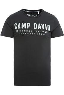 Camp David Herren Tanktop mit gro/ßem Logo Print