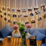 Photo Lights Pegs and String 40 Led Fairy Lights Clips Indoor Battery Powered, Hanging Photo Frames Decorations for…