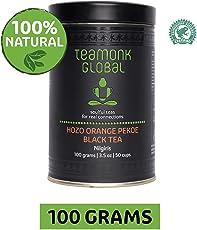 Teamonk Nilgiri Orange Hozo Pekoe Black Tea for Energy Booster, 100g (50 Cups)