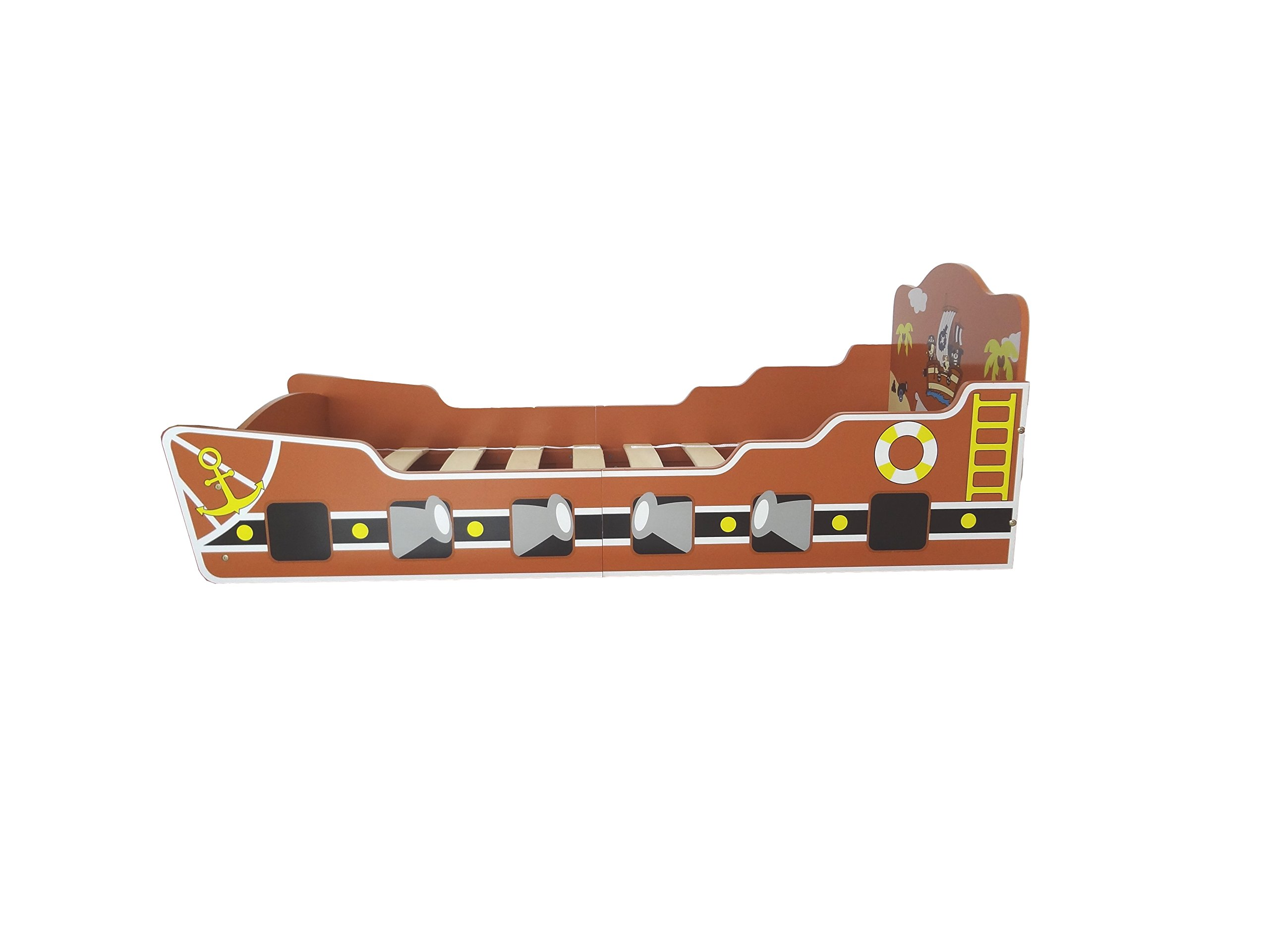 Kiddi Style Children's Pirate Ship/Boat Wooden Junior Bed Kiddi Style Fun pirate themed boat / ship Junior Bed Wood - Fun pirate themed set Easy to assemble 2