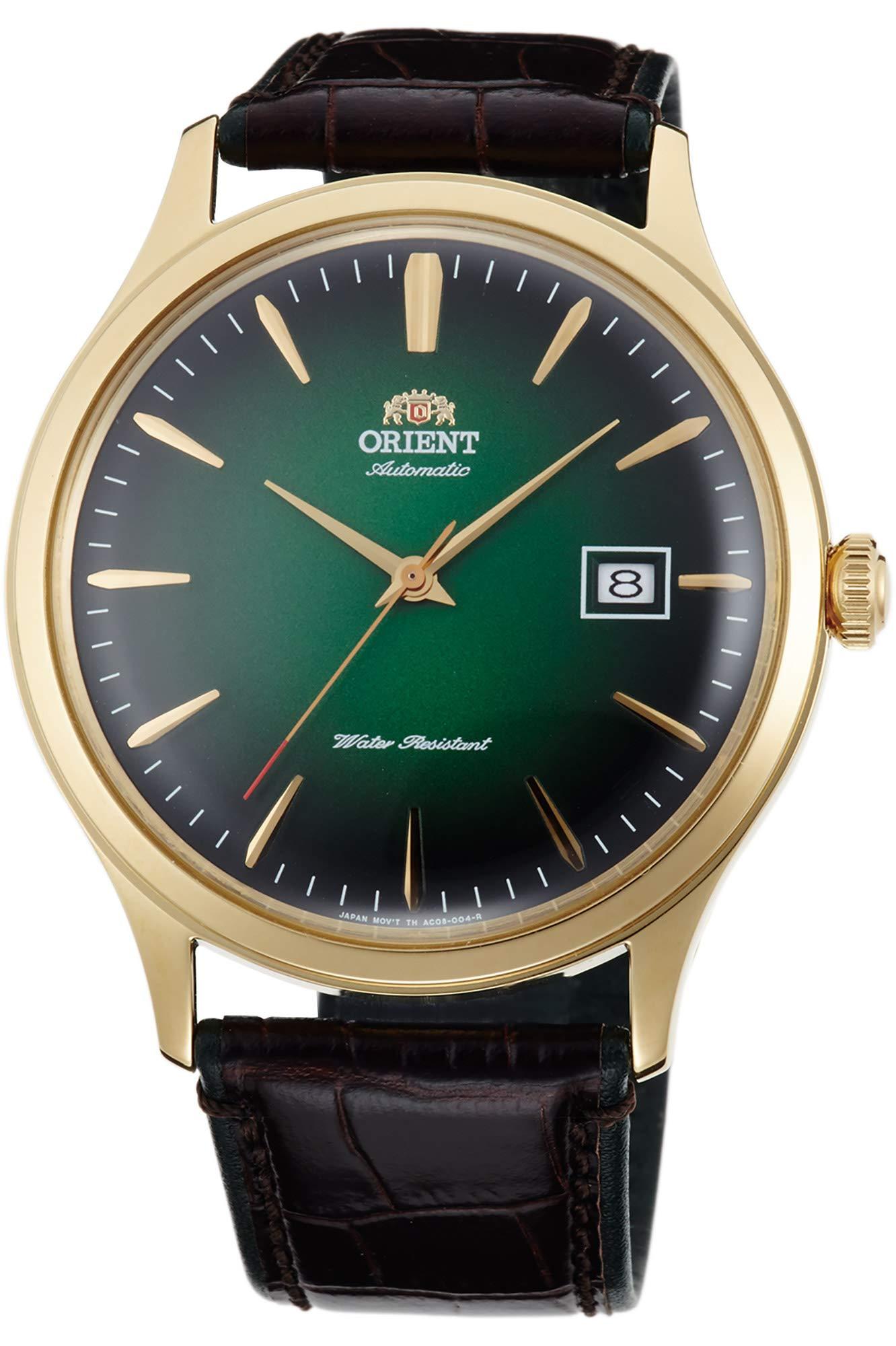 Orient Reloj Analógico para Hombre de Automático con Correa en Cuero FAC08002F0