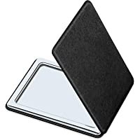 Compact Mirror for Men, Women and Girls, Black Travel Makeup Mirrors for handbag and pocket, Portable Double-Sided Mirror with Distortion Free