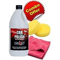 Kangaroo Car Wax Polish (1L, Green) + Foam Applicator + Micro Fibre Cloth