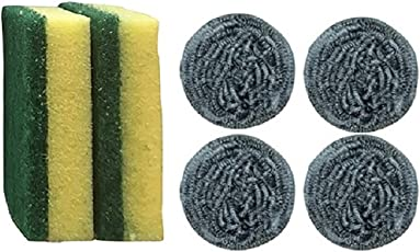 Brite Guard Scrub Sponges and Steel Scrubbers Set (Pack of 6)