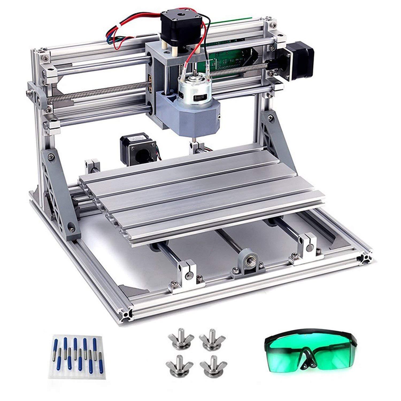 DIY CNC Router Kits, MYSWEETY CNC Gravur Maschine 2418 DIY Grbl Kontrolle 3 Achsigen Graviermaschine Fräsmaschine Fräse…