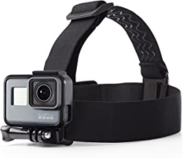 GAGETS Head Strap Camera Mount for GoPro & Action Cameras Anti-Slip Quick-Clip Waterproof and Travel Friendly (Black Large)