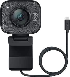 Logitech StreamCam per Streaming Live e Creazione di Contenuti, Video verticale in Full HD 1080p a 60 fps, Opzioni di montaggio versatili, con USB-C, per YouTube, Gaming Twitch, PC/Mac, Nero