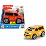 Dickie Toys VW T6 Squeezy mit knautschbarer Karosserie, weicher, knautschbarer Body, farbecht und speichelfest…