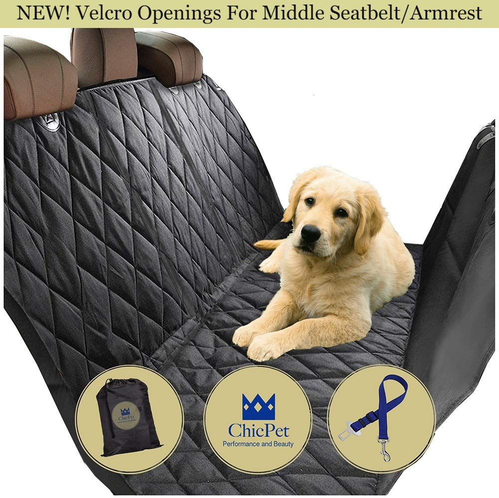 ChicPet UK Dog Car Seat Cover, Boot Liner, Dog Hammock includes Seat Belt Lead and Storage Bag