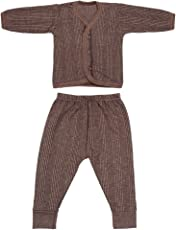 Littly Front Open Kids Thermal Top & Pyjama Set for Baby Boys & Baby Girls