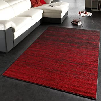 Teppich dunkelbraun  Moderner Designer Teppich Kurzflor Flachflor Velours Farbverlauf ...